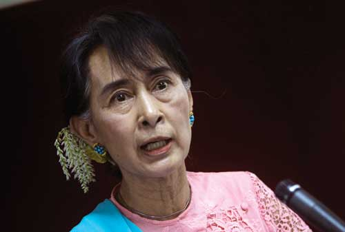 Myanmar pro-democracy leader Aung San Suu Kyi has drastically changed the political landscape of the country. Photograph: Reuters